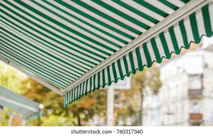 Awnings on home