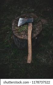 Ax on the stump