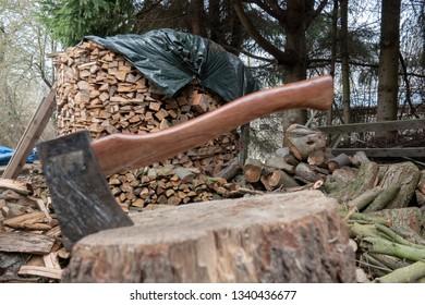 an axe for chopping wood