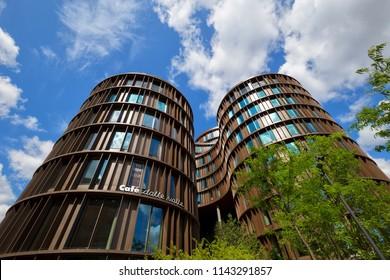 Axel Towers, Copenhagen, Denmark - 23 Jun 2018: It is designed by architect  Lene Tranberg.