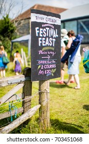 AXMINSTER, DEVON, UK - AUGUST 27 - River Cottage hosts its annual music and food festival