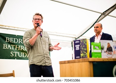 AXMINSTER, DEVON, UK - AUGUST 27 - Hugh Fearnley-Whittingstall gives a talk at River Cottage as the venue hosts its annual music and food festival