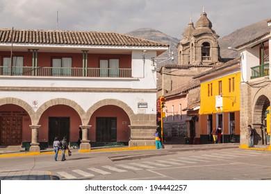 AYACUCHO - PERU CIRCA 2013: Street view of Ayacucho Circa 2013.