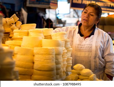 AYACUCHO - PERU - CIRCA 2018: Portrait of an unidentified woman in the market of Ayacucho, circa 2018.