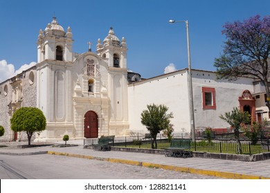 Ayacucho, Peru: view of the Santa teresa church in artisan town of the city.