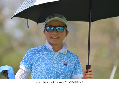 Ayako Uehara of Japan in Honda LPGA Thailand 2018 at Siam Country Club, Old Course on February 25, 2018 in Pattaya Chonburi, Thailand.