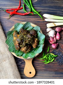 Ayam goreng cabe ijo is fried chicken with sambal ijo, traditional food from indonesia
