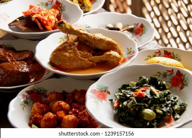 Ayam Gulai Padang. Traditional dish of chicken in spicy curry stew from Padang, West Sumatra.