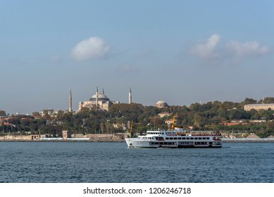 ayasofya view from the ferryboat
