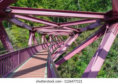 Ayatoribashi bridge in Yamanaka hot spring town, Japan