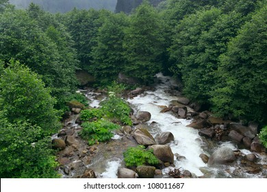 Ayder Plateau with an elevation of 1350m along the Black Sea in Turkey. The Ayder Valley lies between Rize and Artvin and is located at the point where the Firtina (Storm) River meets the Black Sea