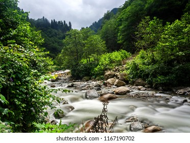 Ayder plateau firtina river,Rize,Turkey