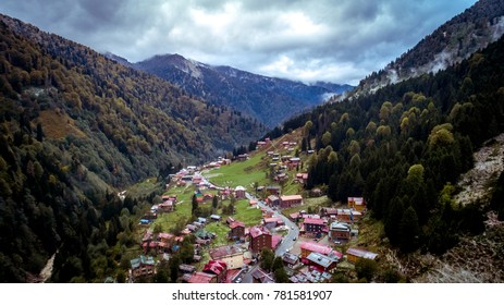 Ayder Plateau, Rize, Turkey. Great Landscape Ayder, Drone View