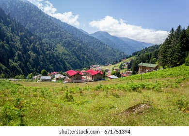 Ayder Plateau, Rize, Turkey.The Ayder Valley lies between Rize and Artvin.A popular destination for summer tourism.