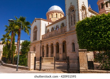 Ayia Napa Cathedral in Limassol, island Cyprus, Europe. Summer sunny bright day.