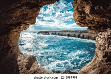 Ayia Napa Sea Caves. Famagusta District, Cyprus.
