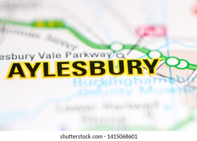 Aylesbury. United Kingdom on a geography map