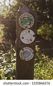 Aylesbury Vale Walking route sign