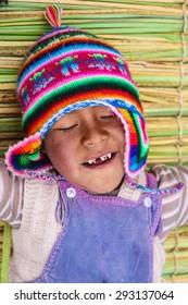 Aymara boy with chullo