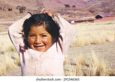 Aymara girl smiling