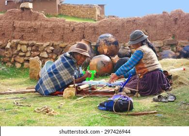 Aymara people weaving