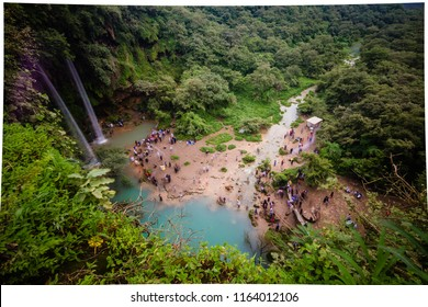 Ayn Athum water falls from top, Salalah, Sultanate of Oman