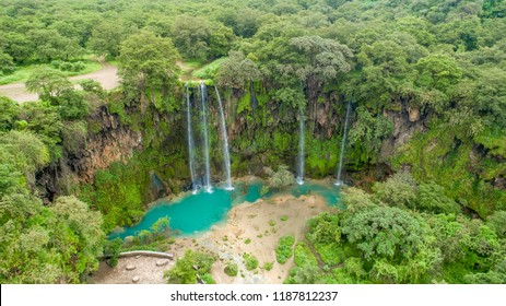 Ayn Athum waterfall, Salalah, Sultanate of Oman