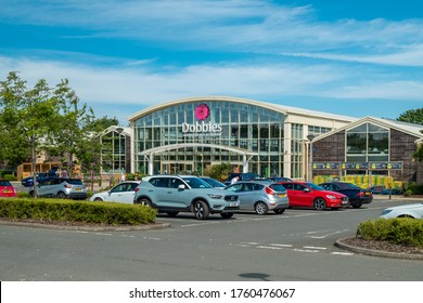 Ayr, Scotland, UK - June 17, 2020: Dobbies Garden Centres are gradually re-opening across Scotland, during Covid-19, with limited customer numbers, 2m distancing and card payment only.