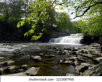Aysgarth Falls in Wensleydale in the Yorkshire Dales, northeast England.