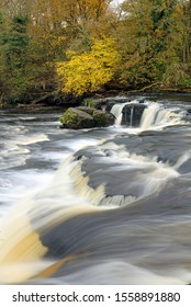 Aysgarth Upper Falls with autumn colours, Yorkshire Dales