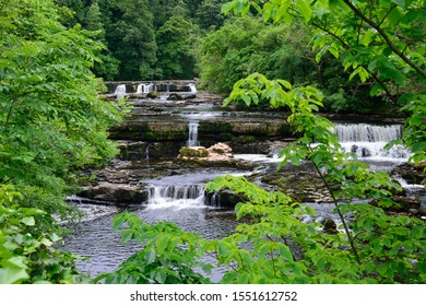Aysgarth Upper Falls on the River Ure in the Yorkshire Dales