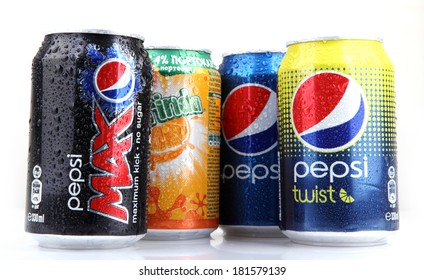 AYTOS, BULGARIA - MARCH 14, 2014: Global brand of fruit-flavored carbonated soft drinks created by PepsiCo.