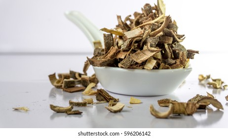 Ayurveda/ Herbal medicine Margosa Tree bark/ Kohomba Pothu isolated on white background