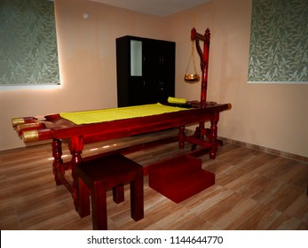 It's a ayurveda Massage Table, Mostly Use in Kerala and ayurveda clinic centers