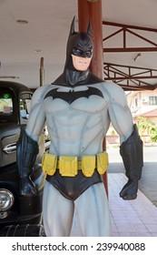 AYUTTAYA,THAILAND - DECEMBER 19, 2014 : Batman model at Thung Bua Chom floating market