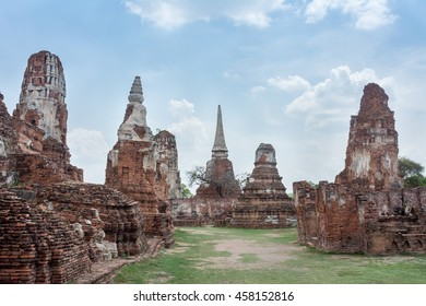 Ayutthaya ancient Site at Wat Mahatat, Thailand