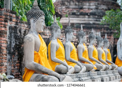 Ayutthaya Historical Park covers the ruins of the old city of Ayutthaya, Phra Nakhon Si Ayutthaya Province, Thailand