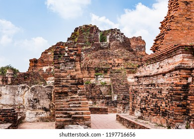 Ayutthaya Historical Park. The ruins of the old city of Ayutthaya in the Phra Nakhon Si Ayutthaya Province, Thailand