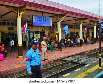 Ayutthaya Railway Station AYUTTHAYA THAILAND-09 AUGUST 2019:Ayutthaya Train Station Phra Nakhon Si Ayutthaya Railway Station The building was rebuilt in the reign of King Rama V in 1921.