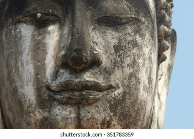Ayutthaya remains in Thailand - Buddha statue of stone
