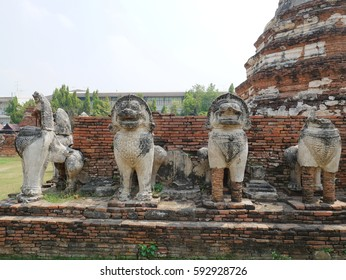 Ayutthaya thailand ancient city and historical place.