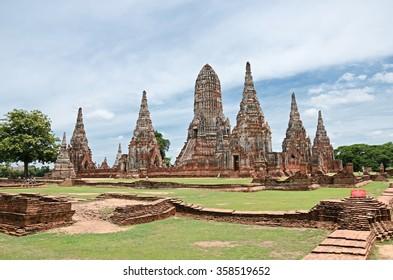 Ayutthaya, THAILAND - April 20:2015. Wat Chaiwatthanaram is a Buddhist temple in the city of Ayutthaya Historical Park.