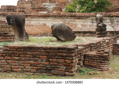 Ayutthaya, Thailand – August 8, 2019 : Old capital, Ayutthaya Old capital of Thailand, Ayutthaya Historical park.