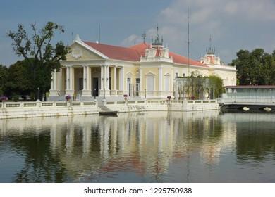 AYUTTHAYA, THAILAND - JANUARY 22, 2011: Bang Pa-In Palace, landmark of Ayutthaya on January 22, 2011 in Thailand, Asia