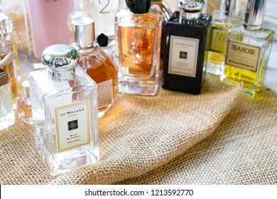 Ayutthaya, Thailand - October 27, 2018: Jo Malone London and others brandname perfume