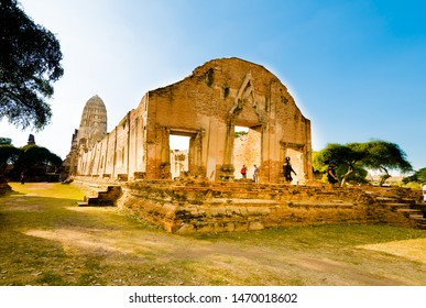 Ayutthaya,Thailand - Decembver,12, 2016 : archaeological site at Wat rachaburana  temple,One of the famous temple in Ayutthaya,Temple in Ayutthaya Historical Park, Ayutthaya, Thailand. world heritage