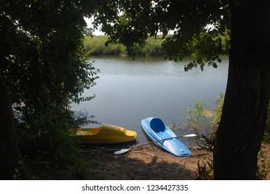 Ayvalik sarimsakli lake near the seaside