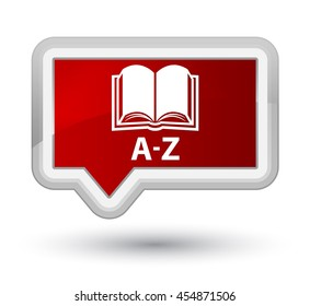 A-Z (book icon) red banner button