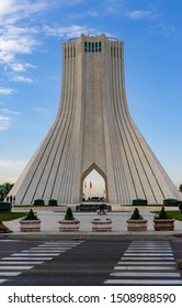 Azadi Square,Tehran/iran-April 26, 2019: Azadi square is the symbol of the Iran, representing the freedom at Tehran, İran
