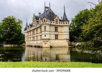 Chateau De Azayle Rideau France Chateau Loire Stock Photo Edit Now